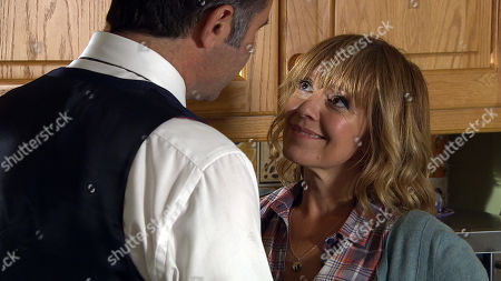 Ep 8622 Thursday 17th October 2019 - 2nd Ep Rhona's stunned by Graham's uncharacteristic openness as he moves in for a passionate kiss. They both hope this is the start of something. With Graham Foster, as played by Andrew Scarborough, and Rhona Goskirk, as played by Zoe Henry.