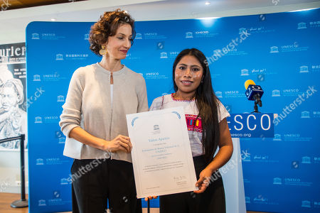 Editorial picture of Yalitza Aparicio appointed UNESCO Goodwill Ambassador in Paris, France - 04 Oct 2019