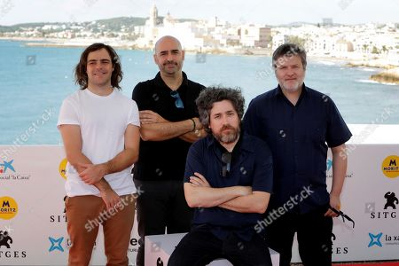 Stock Photo of Argentine director Mariano Cohn (C) poses with Argentine actor Peter Lazani (L), and Argentine producers Javier Mendez (2-L) and Gaston Duprat (R) during the presentation of his movie '4x4' at the 52nd Sitges Fantastic Film Festival in Barcelona, Spain, 04 September 2019. The festival runs from 03 to 13 October.