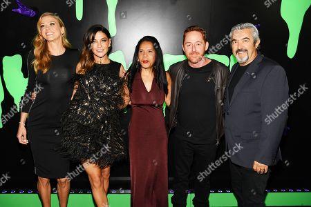 Stock Image of Adrianne Palicki, Jessica Szohr, Penny Johnson Jerald, Scott Grimes and Jon Cassar