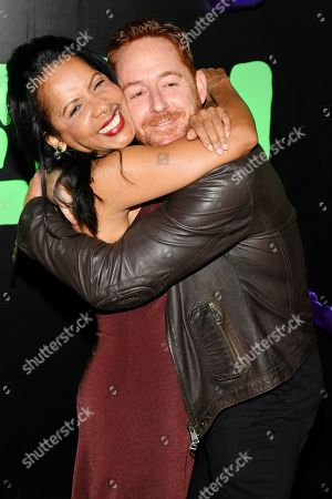 Penny Johnson Jerald and Scott Grimes