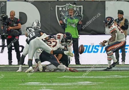 Chicago Bears corner back Prince Amukamara  (20) recovers the ball in the end zone.