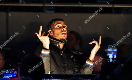 British rapper AJ Tracey during halftime show.