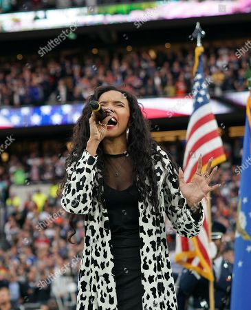 Tinashe sings the American National Anthem