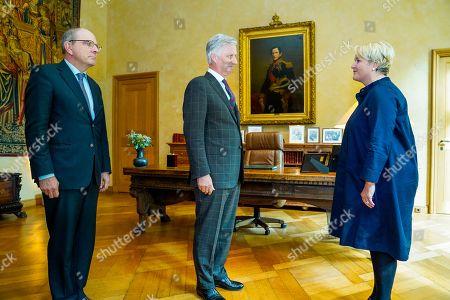 Koen Geens, King Philippe, Nathalie Muylle