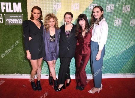 Rona Morison, Sally Messham, Tallulah Greive, Marli Siu and Abigail Lawrie