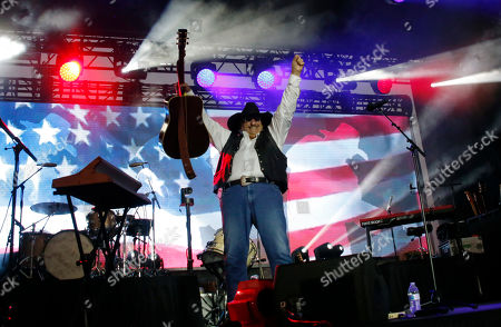 Dennis Agajanian performs at evangelist The Rev. Franklin Graham's Decision America event at the Pitt County Fairgrounds in Greenville, N.C. on