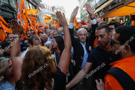 Portuguese Social Democratic Party (PSD), Rui Rio, during a political campaign for the upcoming legislative elections, in Lisbon, Portugal, 4nd October 2019. The 2019 legislative elections will take place next sunday, 6th October 2019.