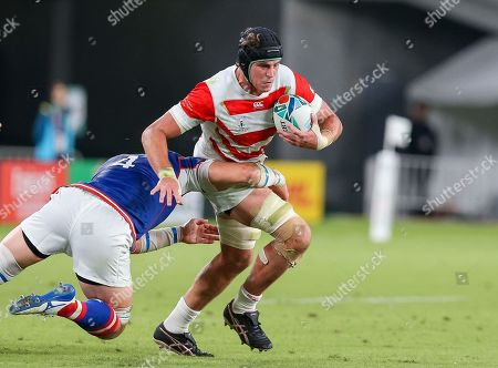 James Moore of Japan during the match