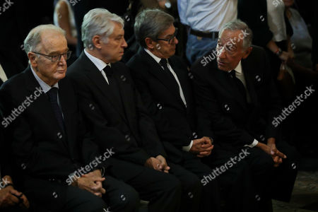 Portuguese Presidente Marcelo Rebelo de Sousa (R), Portuguese Former President Jorge Sampaio (L) and Socialist Party (PS) Jorge Lacao (2-R) during the funeral ceremonies of Diogo Freitas do Amaral at the Jeronimos Monastery in Lisbon, Portugal, 04 October 2019. Diogo Freitas do Amaral was a conservative politician who played a leading role in cementing democracy after Portugal?s 1974 Carnation Revolution, former deputy prime-minister, Foreign Minister and later became president of the U.N. General Assembly between 1995 and 1996, has died at 78.