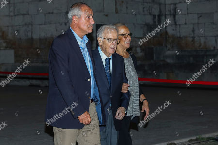 Portuguese Former President Jorge Sampaio (C) and his wife Maria Jose Ritta (R) during the funeral ceremonies of Diogo Freitas do Amaral at the Jeronimos Monastery in Lisbon, Portugal, 04 October 2019. Diogo Freitas do Amaral was a conservative politician who played a leading role in cementing democracy after Portugal?s 1974 Carnation Revolution, former deputy prime-minister, Foreign Minister and later became president of the U.N. General Assembly between 1995 and 1996, has died at 78.