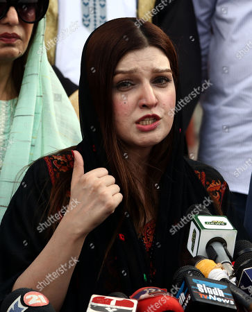 Mishal Malik, wife of Indian Kashmir's separatist leader Yasin Malik, speaks as she visits the mausoleum of the founder of Pakistan, Muhammad Ali Jinnah in Karachi, Pakistan, 04 October 2019. Malik said that Indian administered Jammu and Kashmir have been under siege for the five weeks and knew nothing about the well-being of their dears as many of them have been allegedly wounded or killed by Indian force. Normal life has remained paralyzed for the last nearly two months in Kashmir by the government-imposed restrictions and spontaneous shutdown observed by the people against the 05 August move that took away the special status of the Himalayan region.