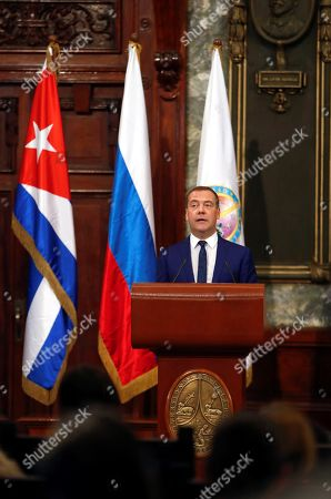 Editorial image of Prime Minister Medvedev receives Honoris Causa degree at the University of Havana, Cuba - 04 Oct 2019