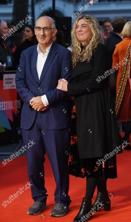 David M. Thompson (L) and Sandra McDermott (R) arrive for the UK Premiere of The Hope Gap at UK Premiere at Odeon Luxe, Leicester Square in London, Britain, 04 October 2019. The 2019 BFI Film Festival runs from 02 to 13 October.