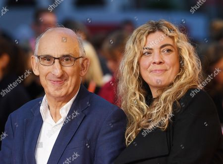 Stock Photo of David M. Thompson (L) and Sandra McDermott (R) arrive for the UK Premiere of The Hope Gap at UK Premiere at Odeon Luxe, Leicester Square in London, Britain, 04 October 2019. The 2019 BFI Film Festival runs from 02 to 13 October.
