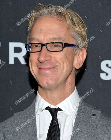 """Andy Dick at the world premiere of """"Zoolander 2"""" in New York. Dick has been charged with groping a driver from a ride-hailing service. Los Angeles County prosecutors say he is expected to be arraigned, on a charge of misdemeanor sexual battery. They allege he groped a driver in West Hollywood on April 12, 2018"""