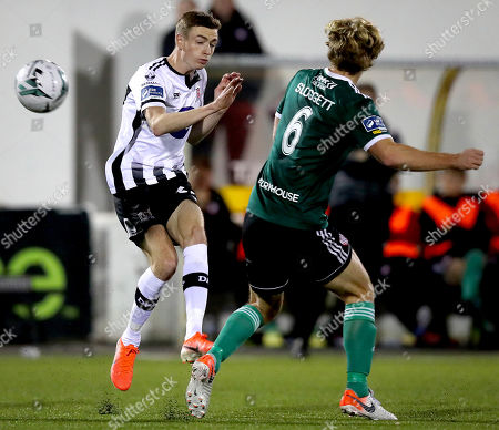 Dundalk vs Derry City. Dundalk's Daniel Kelly and Greg Sloggett of Derry City