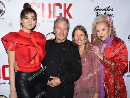 Blanca Blanco with John Savage, guest and Sally Kirkland