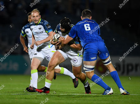 Stock Picture of Rhodri Jones of Ospreys is tackled by Josh Murphy of Leinster