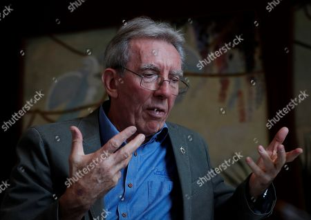 Stock Picture of Chemistry Nobel laureate Jean-Pierre Sauvage gestures during an interview to Spanish news agency EFE held in the framework of 5th 'Passion for Knowledge' Festival in San Sebastian, Basque Country, Spain, 04 October 2019. The 5th 'Passion for Knowledge' Festival runs from 30 September to 05 October 2019.