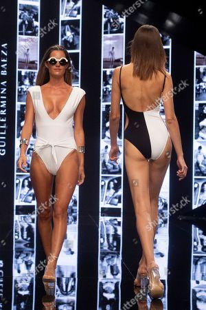 Model Malena Costa on the catwalk
