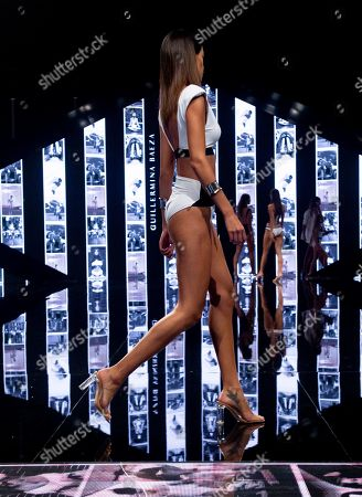 Model Joana Sanz (whose is married to Brazilian footballer Dani Alves) on the catwalk