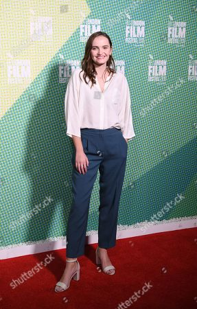 Abigail Lawrie arrives at the world premiere of Our Ladies in Embankment Garden Cinema in London, Britain, 04 October 2019. The 2019 BFI Film Festival runs from 02 to 13 October.