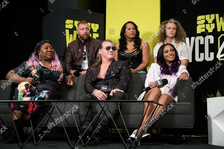 Kia Stevens, Jonathan Good, Chris Jericho, Nyla Rose, Brandi Rhodes and Jungle Boy