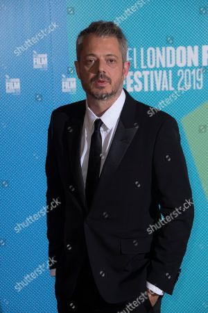 Benedict Andrews poses for photographers upon arrival at the premiere of the 'Seberg' which is screened as part of the London Film Festival, in central London