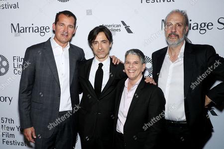 Scott Stuber (Netflix), Noah Baumbach (Director), Lesli Klainberg FLC Exec. Director), Kent Jones (Director, NYFF)