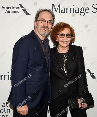 """Robert Smigel, Lucia Smigel. Robert Smigel, left, and Lucia Smigel attend the """"Marriage Story"""" premiere during the 57th New York Film Festival at Alice Tully Hall, in New York"""