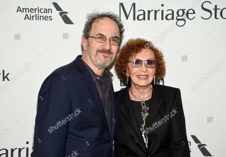 """Stock Picture of Robert Smigel, Lucia Smigel. Robert Smigel, left, and Lucia Smigel attend the """"Marriage Story"""" premiere during the 57th New York Film Festival at Alice Tully Hall, in New York"""