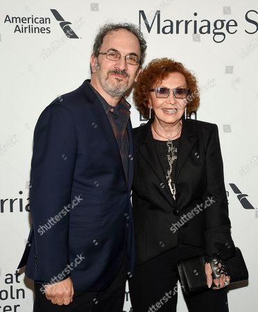"""Stock Image of Robert Smigel, Lucia Smigel. Robert Smigel, left, and Lucia Smigel attend the """"Marriage Story"""" premiere during the 57th New York Film Festival at Alice Tully Hall, in New York"""