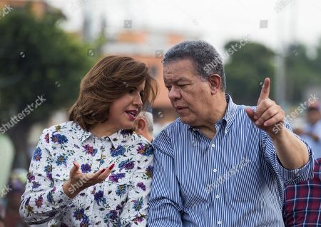 Former Dominican President Leonel Fernandez (R) is accompanied by his wife and current Vice President Margarita Cedeno, as they attend a campaign rally prior to the primary elections of the Dominican Liberation Party (PLD), in Santo Domingo, Dominican Republic, 04 October 2019. The Dominican Republic general elections are scheduled to take place 17 May 2020.