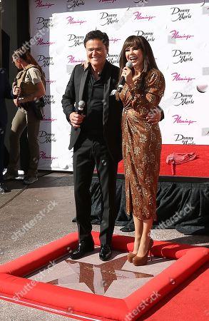 Donny Osmond and Marie Osmond