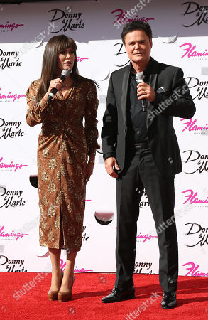 Editorial picture of Marie Osmond and Donny Osmond honored on the Las Vegas Walk of Stars, USA - 04 Oct 2019