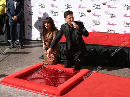 Editorial photo of Marie Osmond and Donny Osmond honored on the Las Vegas Walk of Stars, USA - 04 Oct 2019