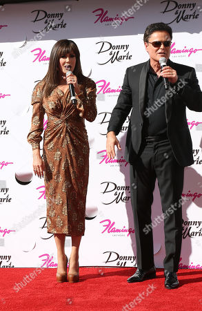 Stock Photo of Marie Osmond and Donny Osmond