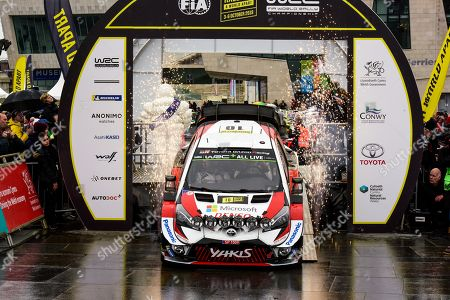 Jari-Matti Latvala of Finland with his Toyota Yaris WRC during the start of the Wales Rally, Llandudno, North Wales, Great Britain 2019, 03 October 2019.