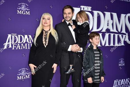 Christina Aguilera, Matt Rutler, Max Bratman and Summer Rain Rutler