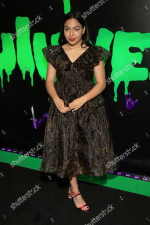"Stock Picture of Allegra Acosta attends Hulu's ""Huluween"" television program lineup celebration during New York Comic Con at Huluween HQ, in New York"