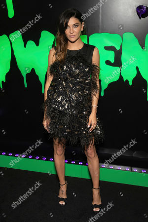 """Jessica Szohr attends Hulu's """"Huluween"""" television program lineup celebration during New York Comic Con at Huluween HQ, in New York"""