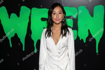 "Lyrica Okano attends Hulu's ""Huluween"" television program lineup celebration during New York Comic Con at Huluween HQ, in New York"