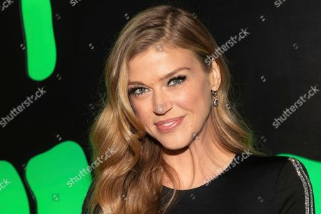 """Adrianne Palicki attends Hulu's """"Huluween"""" television program lineup celebration during New York Comic Con at Huluween HQ, in New York"""