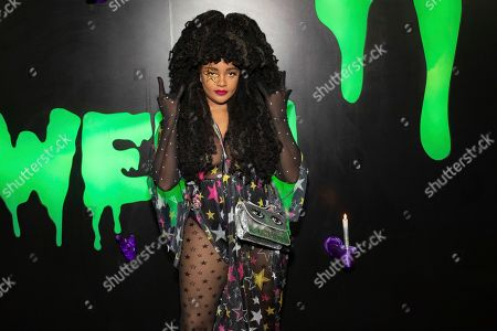 """TK Wonder attends Hulu's """"Huluween"""" television program lineup celebration during New York Comic Con at Huluween HQ, in New York"""