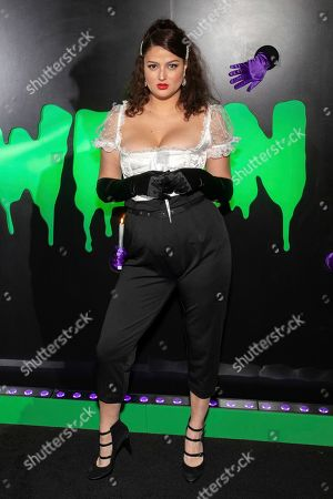 "Lily Lane attends Hulu's ""Huluween"" television program lineup celebration during New York Comic Con at Huluween HQ, in New York"
