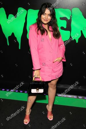 """Ariela Barer attends Hulu's """"Huluween"""" television program lineup celebration during New York Comic Con at Huluween HQ, in New York"""
