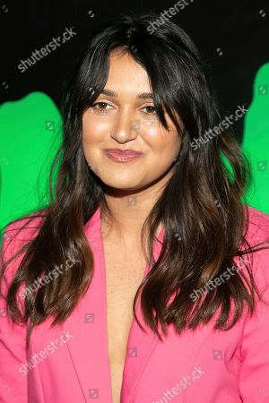 """Stock Photo of Ariela Barer attends Hulu's """"Huluween"""" television program lineup celebration during New York Comic Con at Huluween HQ, in New York"""