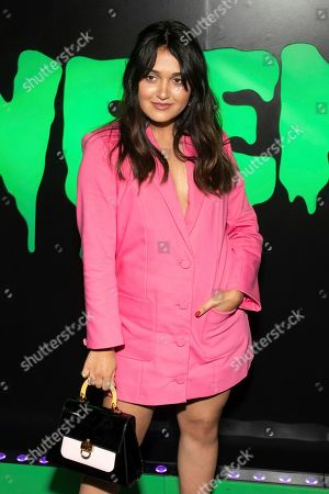 """Stock Image of Ariela Barer attends Hulu's """"Huluween"""" television program lineup celebration during New York Comic Con at Huluween HQ, in New York"""