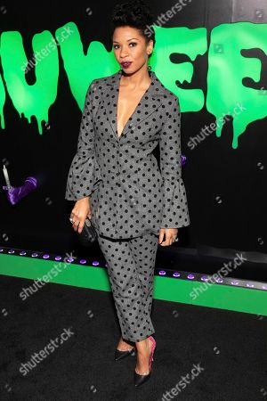 """Stock Image of Angel Parker attends Hulu's """"Huluween"""" television program lineup celebration during New York Comic Con at Huluween HQ, in New York"""